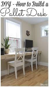 Diy Built In Desk by Our New Pallet Desk Lehman Lane