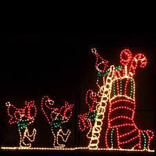 christmas outdoor lights captivating merry outdoor reindeer plus