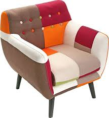 patchwork armchair in a multicolored presentation