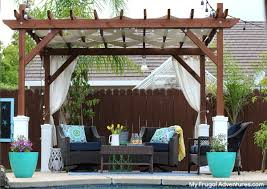 Inexpensive Pergola Kits by How To Build A Pergola My Frugal Adventures