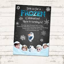 valerie pullam designs frozen birthday invitation chalkboard