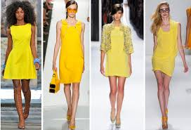 What Colors Go With Yellow Short Yellow Dresses For Spring And Sumemr