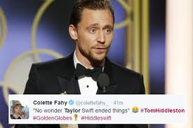 tom hiddleston mocked for rambling golden globes acceptance speech