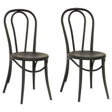 Black Bistro Chairs Adeco Glossy Rose Gold Tolix Style Metal Bistro Chairs Set Of Two