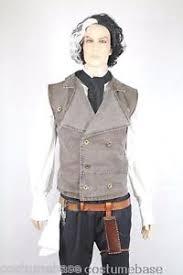 Sweeney Todd Halloween Costumes Sweeney Todd Costume Wig Shirt Vest Belt Holster