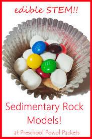 edible rocks stem challenge sedimentary rocks model preschool powol packets