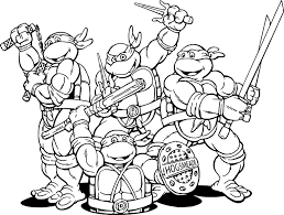 teenage mutant ninja turtles cartoon coloring page wecoloringpage