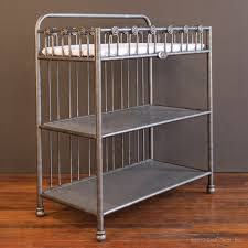 Iron Changing Table Changer Pewter