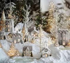 Christmas Decorations At Pottery Barn by Pottery Barn Christmas Glitter Village Holidays Pinterest