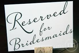 reserved signs for wedding tables bridesmaids and groomsmen signs reserved for diagonal style
