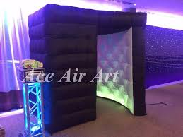 photo booth enclosure portable black kiosk booth tent with led photo booth