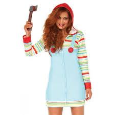 Chucky Costume Halloween Leg Avenue 86656 Cozy Killer Doll Halloween Costume Multicolor