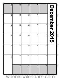 december 2015 calendar printable template 8 templates