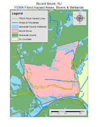 Fema Flood Maps Hazardous Locations The Inundation Of Bound Brook New Jersey