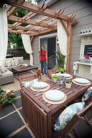 Deck With Pergola by Deck Decorating Ideas Pergola Lights And Cement Planters Deck
