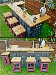 Garden Bar Table And Stools If You U0027d Like An Outdoor Bar Without A Big Price Tag This One