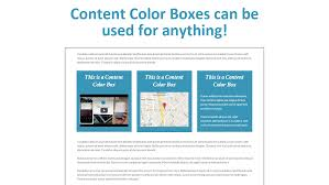 content color box create a colored content box