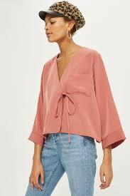wrap shirts blouses tie wrap blouse shirts blouses clothing topshop