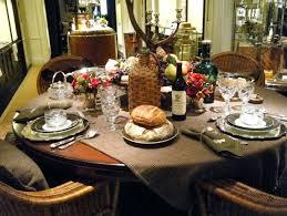 modern table settings for thanksgiving dining room modern