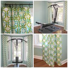 carolina on my mind home gym waverly groovy grille no sew curtains