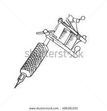 tattoo gun sketch tattoo gun scetch vector stock vector 496381210 shutterstock