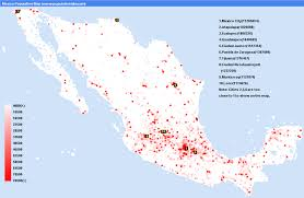 map of mexico cities mexico population map statistics graph most populated cities density