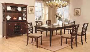 dark mahogany finish transitional dining table w optional items