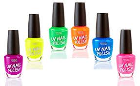 uv glow blacklight nail polish 6 color variety pack 13ml u2013 day