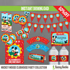 mickey mouse clubhouse party disney mickey mouse clubhouse birthday party collection instant
