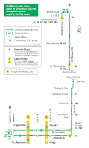 Ttc Subway Map by Ttc Map Of 141 Downtown Mt Pleasant Express