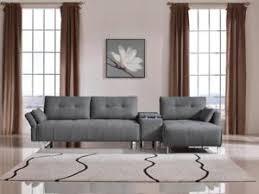 grey fabric modern living room sectional sofa w wooden legs vig divani casa testro modern grey fabric sectional sofa w storage