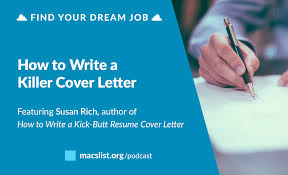 writing a killer resume ep 038 how to write a killer cover letter with susan rich mac ep 038 how to write a killer cover letter with susan rich
