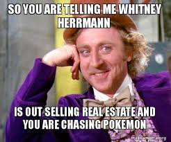 Whitney Meme - so you are telling me whitney herrmann is out selling real estate