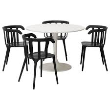 Ikea Outdoor Table by Docksta Ikea Ps 2012 Table And 4 Chairs White Black 105 Cm Ikea