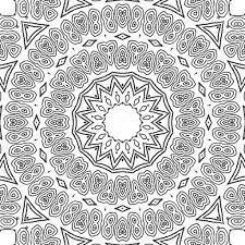 coloring page mandala concentric circle ornament u2014 stock photo