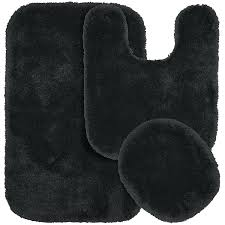 Bathroom Rugs And Mats Decor Remarkable Black Contour Bath Mat With 3 Piece Bathroom Rug