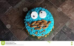 cookie monster birthday cake stock image image 71881779