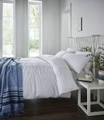 catherine lansfield minimalist double duvet set white amazon co