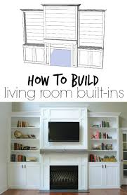 Built In Wall Shelves by Living Room Built Ins