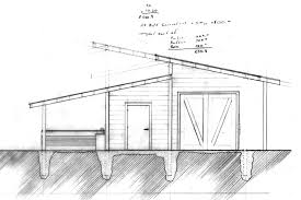 interlocking shed roofs longitudinal house plans 75144