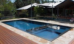 stamped concrete patio ideas for in ground pool designs with