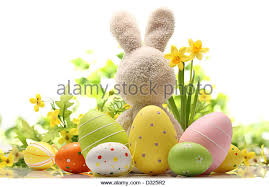 Easter Egg Rabbit Decoration by Easter Decoration Eggs Rabbit Flowers Stock Photos U0026 Easter