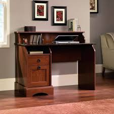 Espresso Computer Desk With Hutch by Espresso Computer Desk With Shelf And Laminate Flooring And Grey