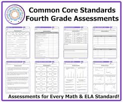 Commoncore Math Worksheets Fourth Grade Common Assessment Workbook