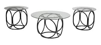 Ashley End Tables And Coffee Table Ashley Furniture T116 13 Quassey 3 Pc Cocktail Table Set Black
