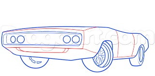 Dodge Challenger Drawing - how to draw fast and furious vin diesel dodge charger car