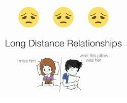Distance Meme - long distance relationships wish this pillow was her i miss him
