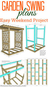 arbor swing plans garden swing plans for the backyard hoosier homemade