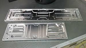 porta targa auto kit portatarga auto cp alluminio cromati anteriore e posteriore