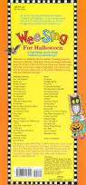 halloween songs lyrics wee sing for halloween pamela beall susan hagen nipp songs